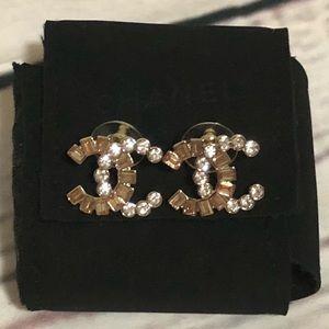Stunning CHANEL Bi-Color Earrings